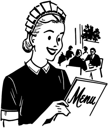dinners: Waitress With Menu