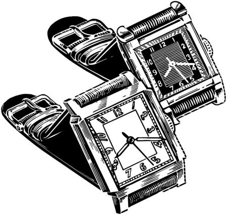 Watches Square Face Illustration