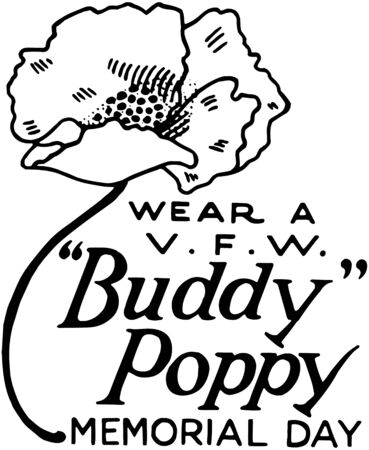 Wear A Buddy Poppy Vector
