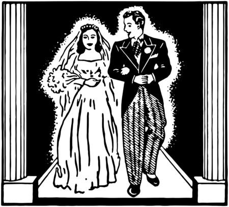 Pareja de recién casados Foto de archivo - 28347083