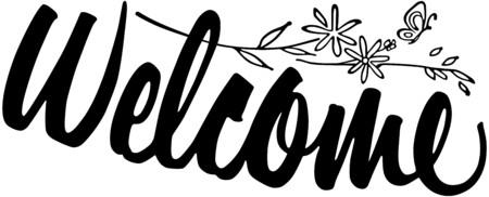 Willkommen Banner Standard-Bild - 28347114