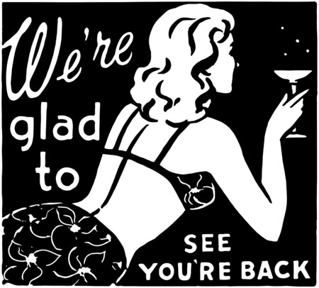 gals: Were Glad To See Youre Back 3 Illustration