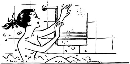Femme de baignade Banque d'images - 28347232