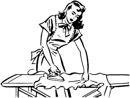 Vrouw Strijkservice Stockfoto - 28347248