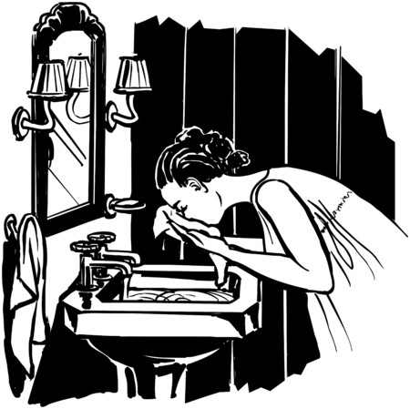 homemakers: Woman Washing Face