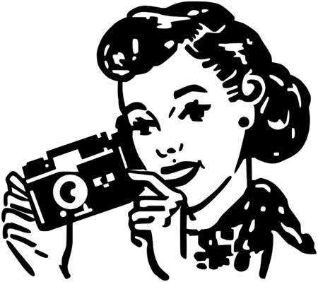 Woman With Camera Ilustração