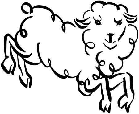 Wooly Sheep Vector