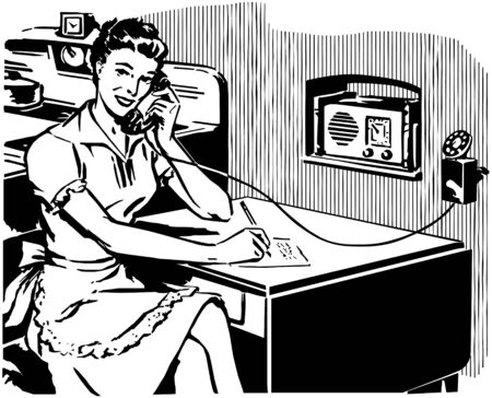 work from home: Work From Home Illustration