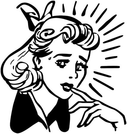 femme inqui�te: Femme inqui�t� Illustration