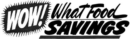 Wow! What Food Savings Illusztráció