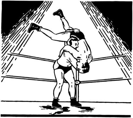 wrestling: Wrestling Illustration