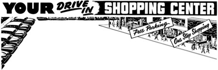 centers: Your Drive In Shopping Center Illustration