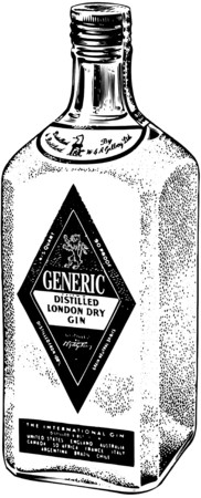 Bottle Of Distilled Gin