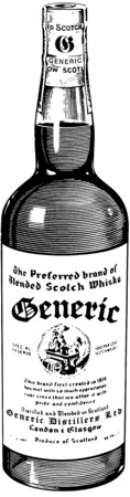 botella de licor: Botella de whisky