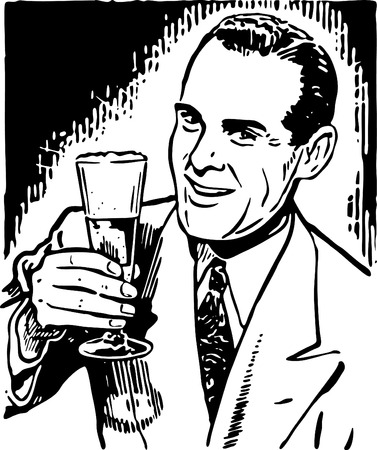 40s: Retro Guy With Beer