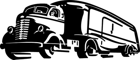 long distance: Semi Truck