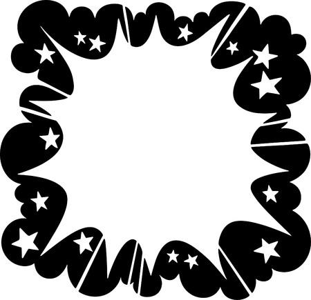 스타 버스트 폭발 광고 프레임