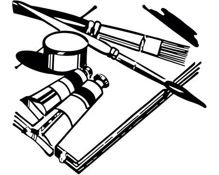 Retro Clip Art Illustration  イラスト・ベクター素材