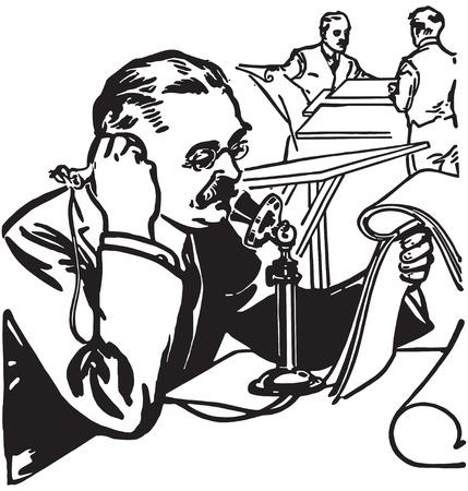 Retro Clip Art Illustration Ilustracja