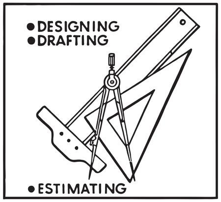 Designing Drafting Фото со стока