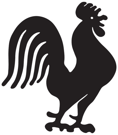 Rooster Silhouette 写真素材