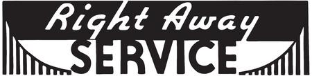 Right Away Service 版權商用圖片