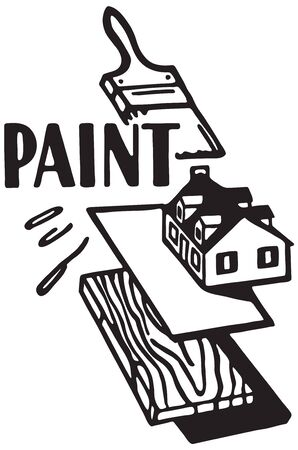 Paint - Banner for house painting 스톡 콘텐츠