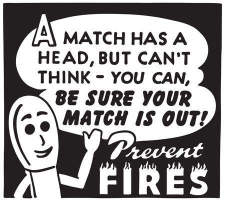 Prevent Fires Stockfoto