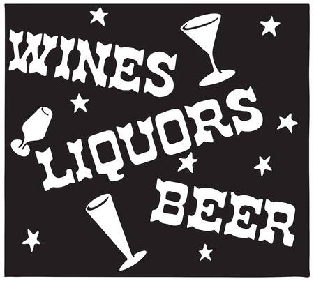 Wines Liquors Beer 5 스톡 콘텐츠