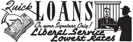 Quick Loans Stock Photo