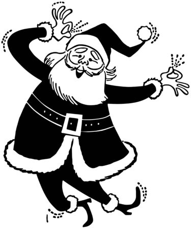 Funny Santa - Retro Clipart Illustration