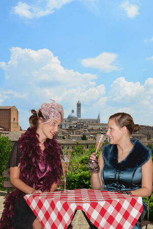 Siena  party and roaring twenties girls photo
