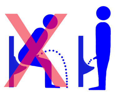 urinal: urinal instructions Stock Photo