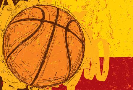baloncesto: Antecedentes incompleto Baloncesto Foto de archivo