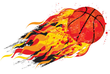basketball ball on fire: Flaming basketball
