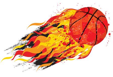 basketball ball in fire: Flaming basketball