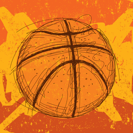 Basketball background 矢量图像