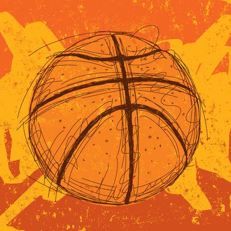 Basketball background Иллюстрация