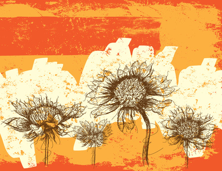 Wildblumen Abstrakt, Wildblumen über einem abstrakten Hintergrund. Standard-Bild - 38946409