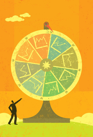 luck wheel: Financial Fortune Wheel Illustration