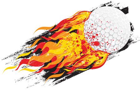 fire ball: Flaming golf ball