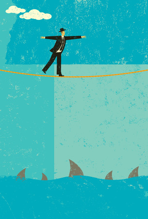 risk: Tightrope walker