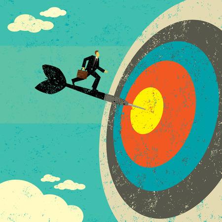 Het raken van de Target Stock Illustratie