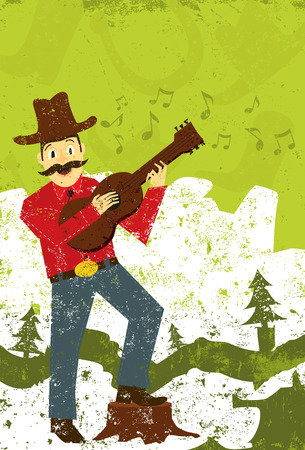 performing arts: Country music singer Illustration