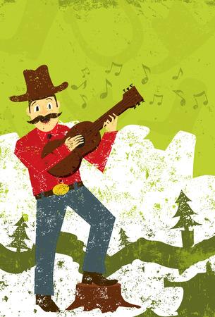 folk music: Country music singer Illustration