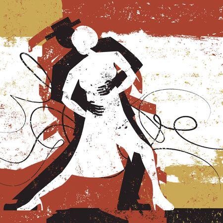 Los amantes del tango Foto de archivo - 40547541