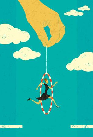 Jumping through a hoop