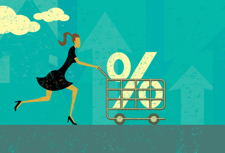 Tasso di interesse Shopping Vettoriali