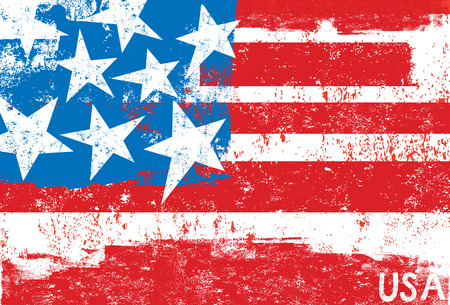 us grunge flag: American Flag Illustration