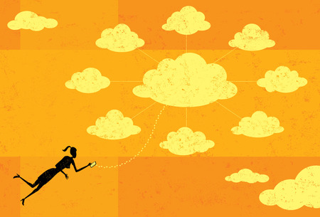 telecommunications equipment: Cloud Computing Illustration